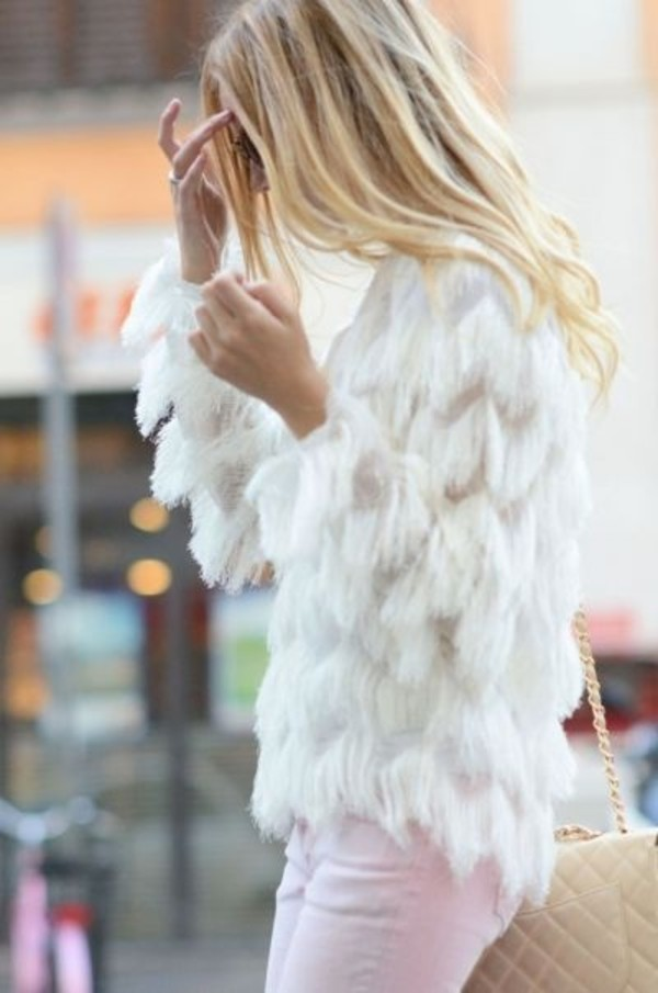 blouse white top icifashion ici fashion fringes top fringed top