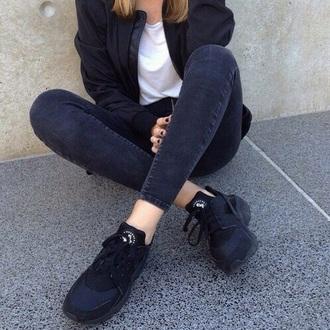 shoes nike black huarache