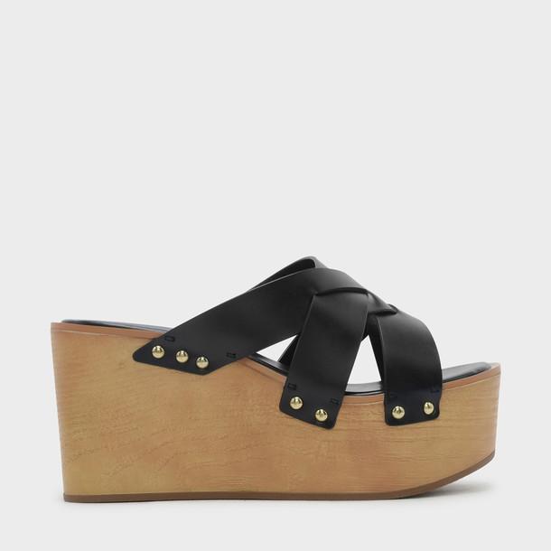 weave wedges black shoes