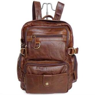 bag brown tumblr leather backpack leather bag school bag