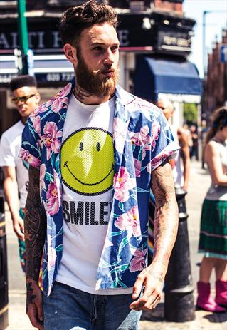 Smiley London Mesh T-shirt White and Yellow | Smiley London | ASOS Marketplace