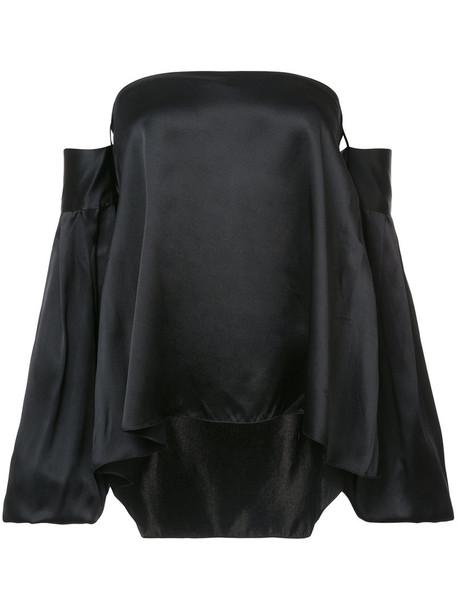 Sachin & Babi top women black silk