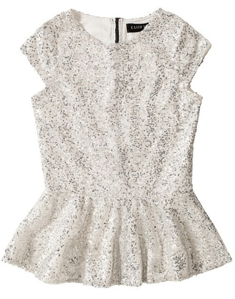 top glitter sequins new year's eve peplum paljette new years outfit