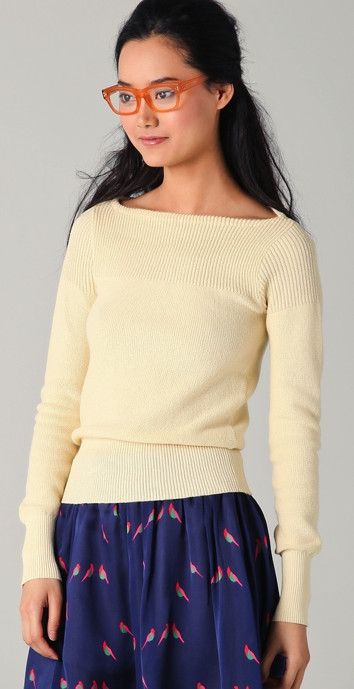 Marc by Marc Jacobs Grete Sweater in Pearl / TheFashionMRKT