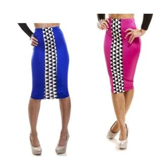 skirt tight midi bodycon diamond print black and white stripes party clubwear date outfit spandex junior designer
