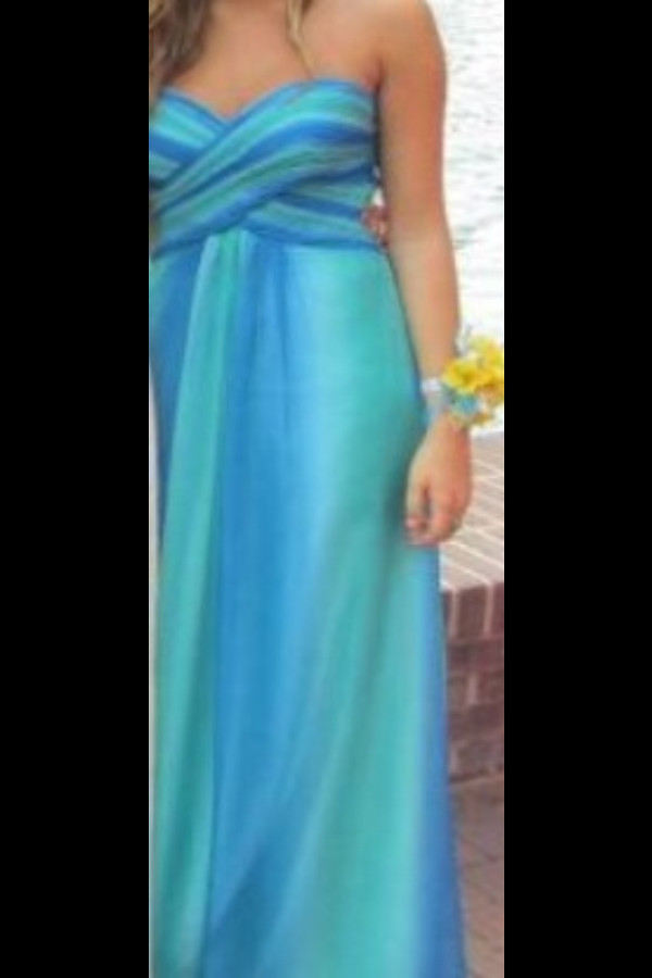 dress teal and blue prom dress heartshaped