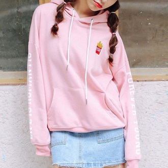 sweater pink fashion style trendy jumper fall outfits light pink cute kawaii long sleeves boogzel