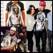 t-shirt,trash by 1000,50cent,g unit,clothes,print,instagram,fashion,outfit,swag,style,band t-shirt,jacket,rapper