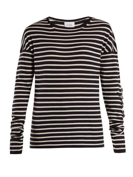 sweater navy white