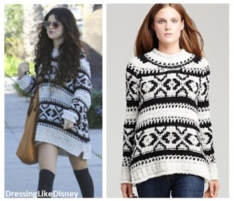 sweater selena gomez jewels