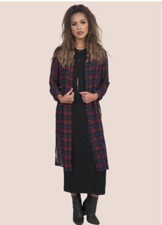 blouse flannel long flannel plaid flannel
