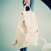 bag,baggu,backpack,beach,beach bag,white backpack