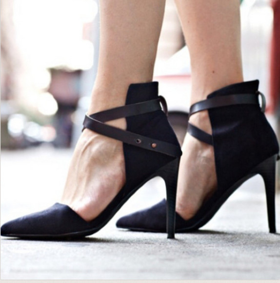 shoes high heels black  high heels black heels with straps black heels with ankle strap