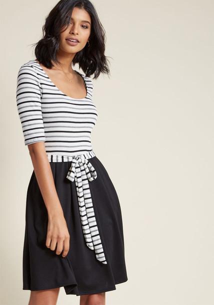 MDD1255 dress pleated white grey black