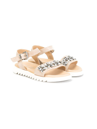 embellished embellished sandals sandals leather nude suede shoes