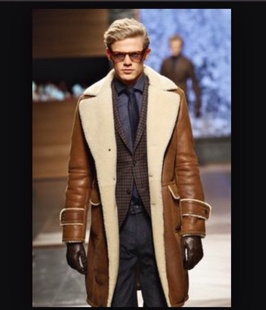 coat long shearling coat