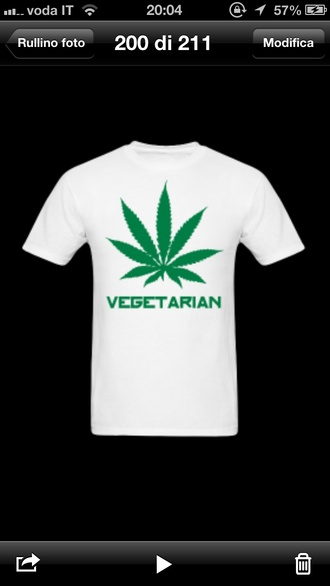 shirt marijuana boy girl fashion clothes vegetarian love white green fun