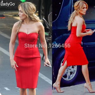 bustier dress party dress bandage dress red dress bodycon dress evening dress