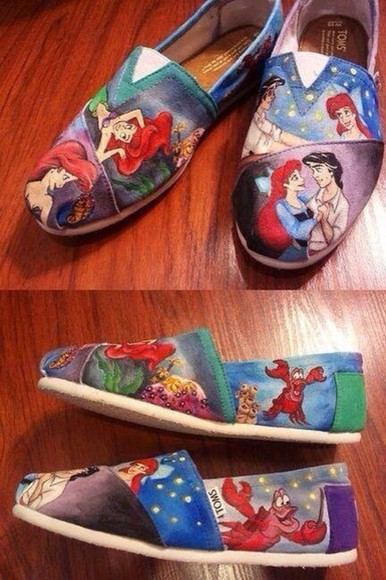 the little mermaid shoes little mermaid cartoon toms