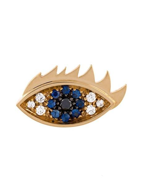 Delfina Delettrez eyes women gold black yellow grey metallic jewels