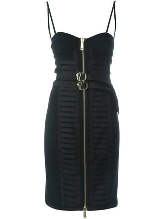dress bustier dress women spandex black