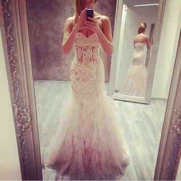dress wedding dress white dress wedding gowns mermaid wedding dress