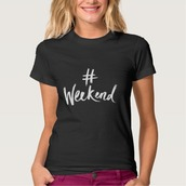 shirt,imgeee,party t-shirt,28719,weekend,the weekend,weekend warrior,weekend escape,tgif,hashtag shirt,party,party tshirt,casual t-shirts,casual shirt,black,vacation look