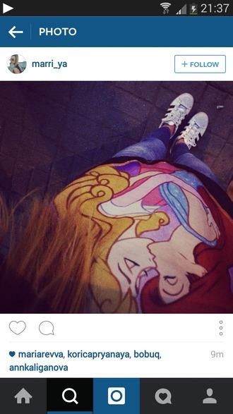 shirt disney t-shirt sweatshirt sleeping beauty the little mermaid princess pink lgbtq support kiss lgbt