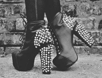 shoes spiked shoes laced shoes