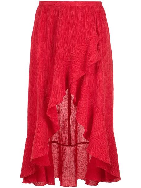 skirt women spandex red