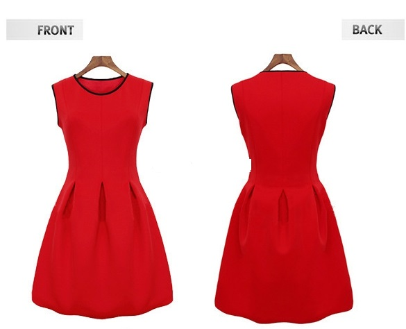 Red skater dress · summah breeeze · online store powered by storenvy