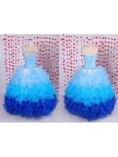 dress,homecoming dress,quinceanera dress,blue,fashion,tulle dress,strapless,trendy,ombre,prom,dressofgirl