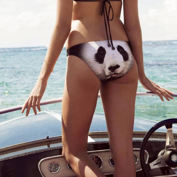 ... panda bikini bikini bottoms silly funny cute hilarious summer beach