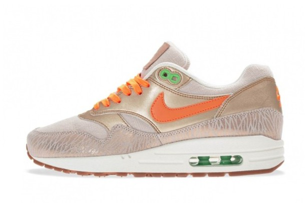 best loved 11625 11499 shoes orange zebra gold nike air max 1