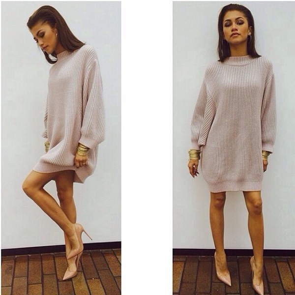 sweater dress girly zendaya nude sweater dress turtleneck fashion zendayamaree mini dress cream knit heels pull women jumper textured sweater knitted dress comfy sexy dress knitted cardigan beige new bodycon dress shirt zendaya jumper beash cool heel classy beautiful gorg gorgeus zendaya sweater zendaya oversized sweater knitwear knitted shirt knitted dress nude dress short dress beige sweater cute beige dress beige high heels instagram pink pink sweater pink jumper model tan long sweater nude pink