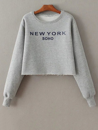 sweater grey fall outfits long sleeves trendy casual sporty cool zaful