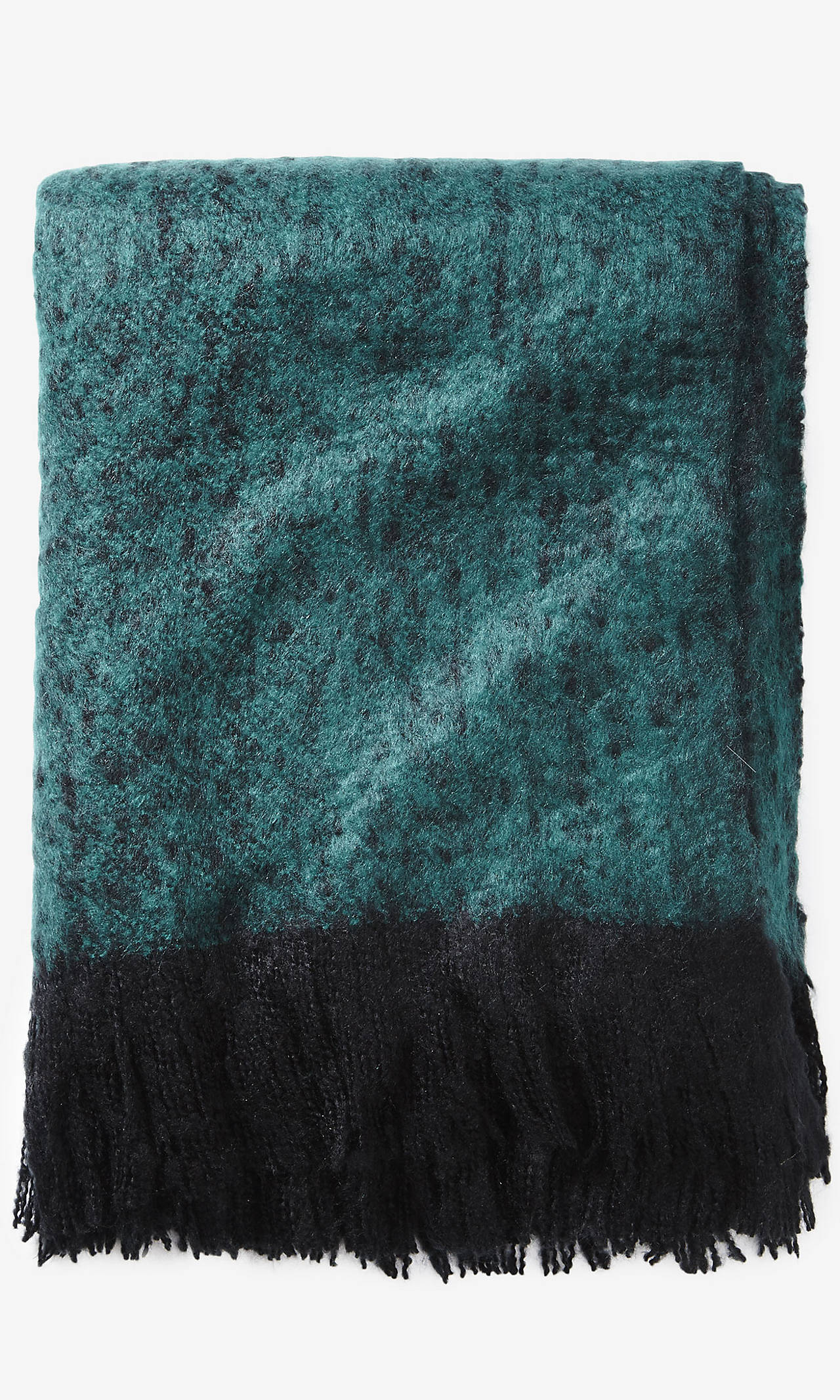 Oversized Fuzzy Nep Knit Blanket Scarf from EXPRESS