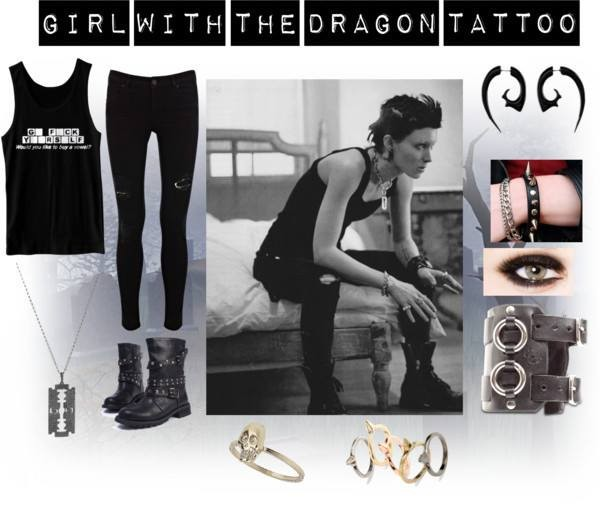 shoes the girl with the dragon tattoo girl outfit clothes clothes cute cute outfits combat boots cute outfits tank top