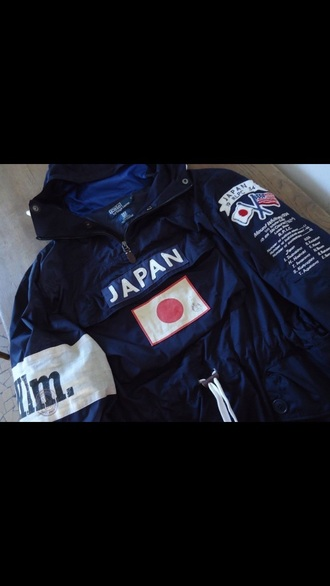 jacket polo sweater olympic edition japan black white