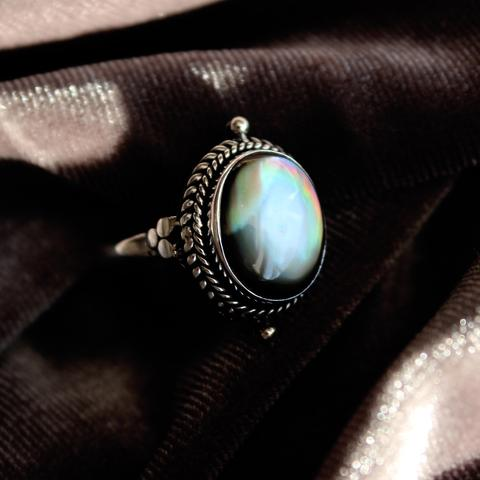 Little Luna Black Pearl Ring