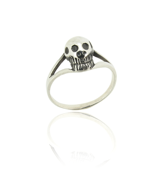 Silver Large Skull | Silver Ring | Silver Jewellery | Stack Rings | BOHEM
