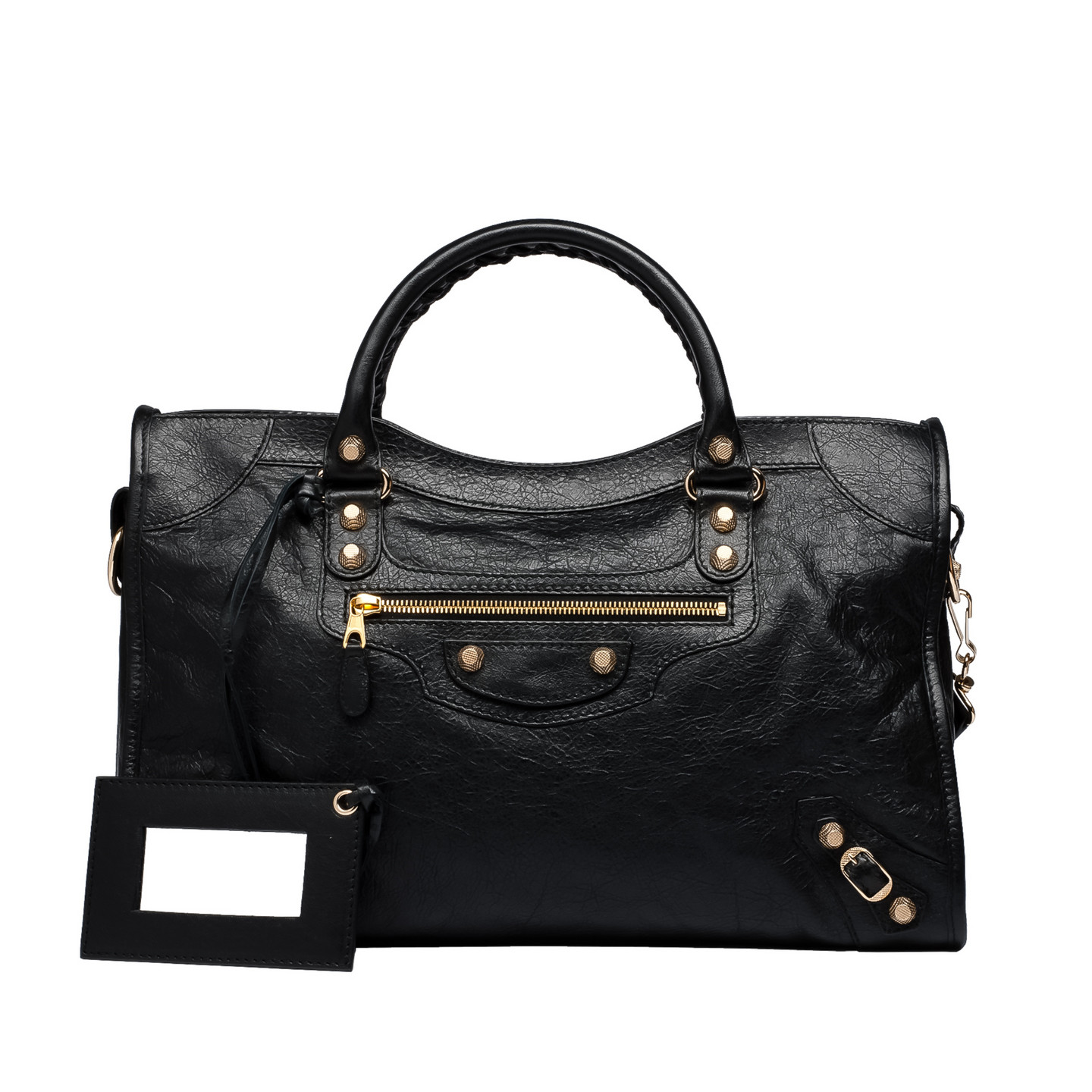 Balenciaga Giant 12 Gold City Black - Women's Top Handle Bag