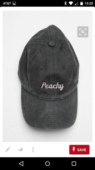 hat black pink cute baseball