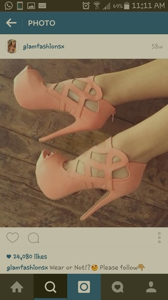 shoes pink pumps open toe strappy shoes