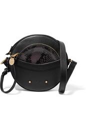 snake,bag,shoulder bag,leather,black
