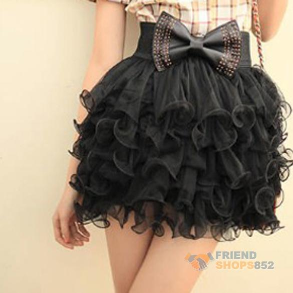 Fashion 5 Layer Mini Cake Skirt Black Girls Full Tutu Tulle Tier Women NEW | eBay