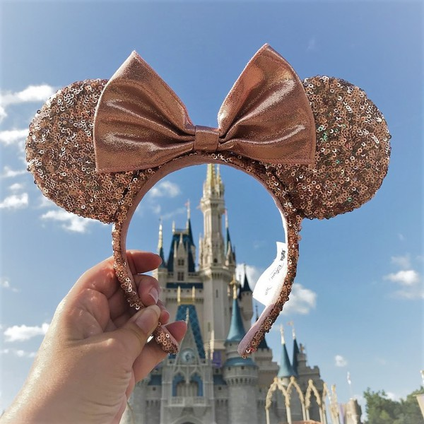 hair accessory minnie mouse rose gold ears rose gold minnie mouse ears mouse ears disney disneyland disneyland trip