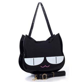 bag black goth cats