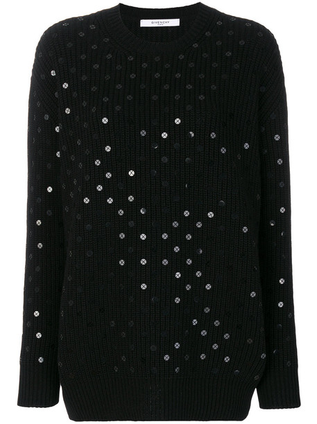 Givenchy jumper women black silk wool sweater