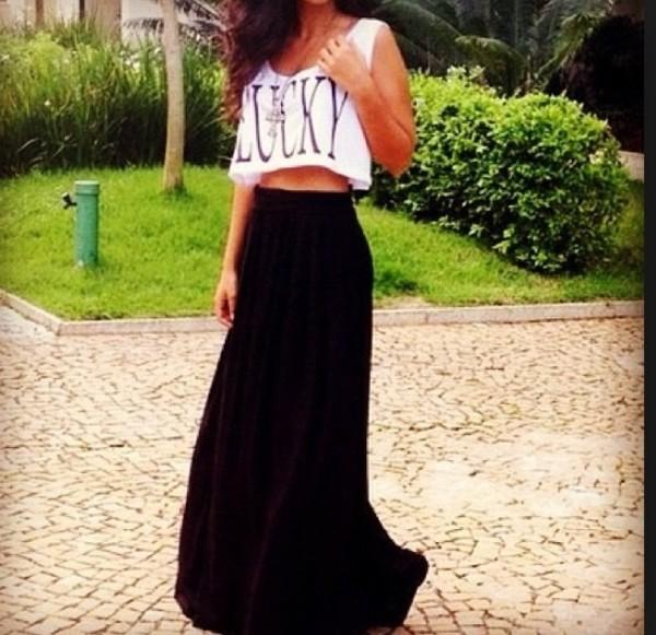 dress cropped shirt maxi skirt